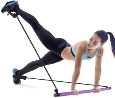 gyfhmy bodybuilding yoga pilates stick with foot loop