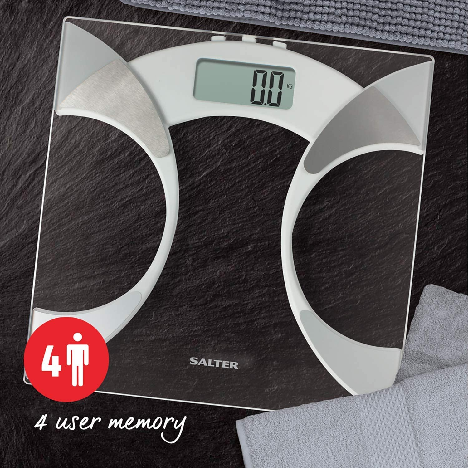 Salter Ultra Slim Analyser Bathroom Scales, Measure Weight ...