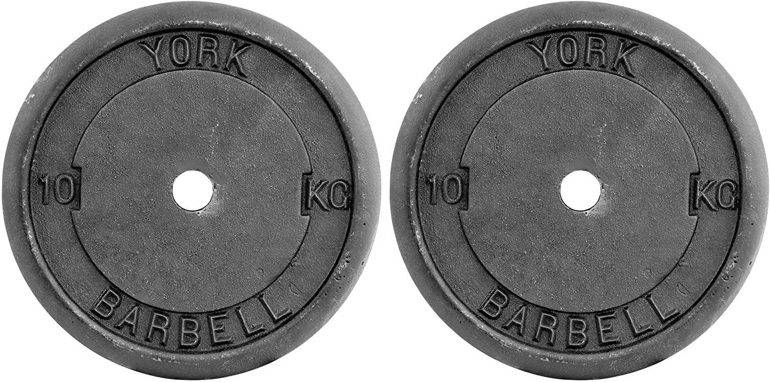 Adjustable Dumbbell Weights Set Perfect for Bodybuilding Weight Lifting Home Gym Exercise Equipment Fitness York 2 x 10 KG Vinyl Weight Plate Packs