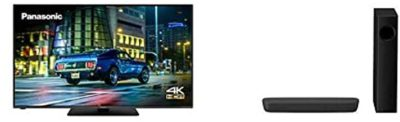 Panasonic TX-65HX580BZ 65 Inch 4K Ultra HD Multi HDR LED LCD Smart TV with Freeview Play (2020) + SC-HTB258EBK Bluetooth Soundbar with Wireless Subwoofer – Black
