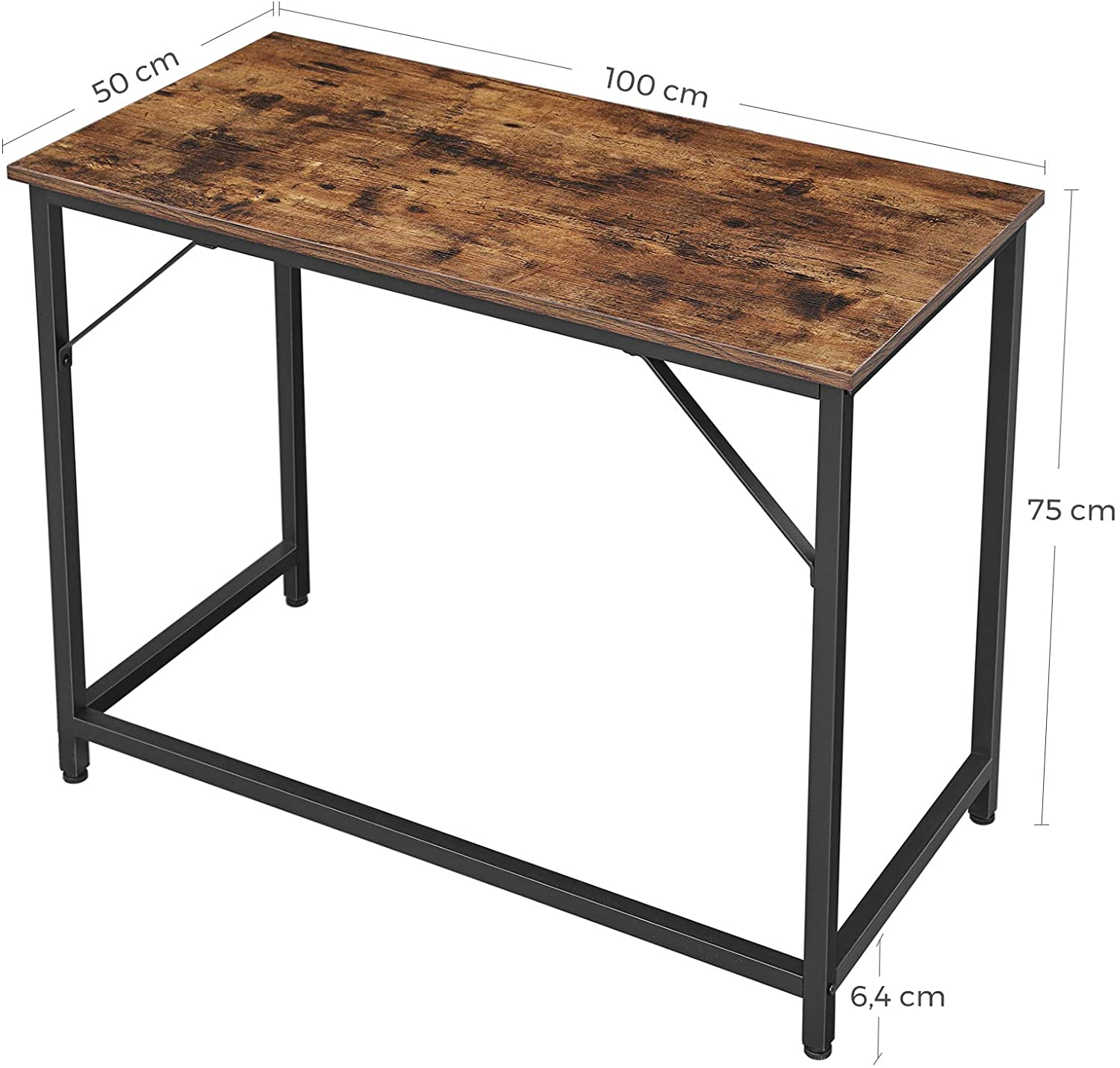 VASAGLE Writing Desk, Computer Desk, Small Office Table ...