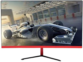 sjlerst 23.8-Inch Curved Gaming Monitor, Ultra Thin Full HD 1080p IPS Display PC Monitor, Game Curved Screen PC Monitor 1920 x 1080 16:9 LED Backlight(UK)