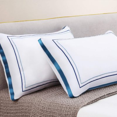 Kissmoon Pillows 2 Pack, Luxury Hotel Pillows Firm and Support Pillows, Goose Down Alternative Hypoallergenic Pillows for Back Stomach/Side Sleeper and Neck/Back/Shoulder Pain, Dust-Mite Resistant