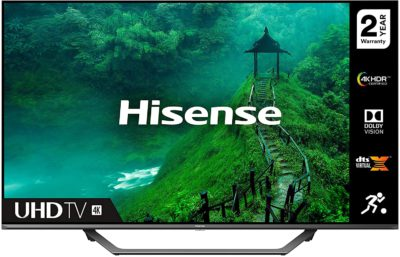 HISENSE 55AE7400FTUK Dolby Vision 55-inch 4K UHD HDR Smart TV with Freeview play, and Alexa Built-in (2020 series) (Renewed)